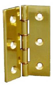 X08-126 DPBW Butt Hinge 75 x 50mm Polished Brass