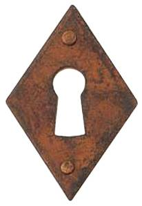 X15-609 Door Escutcheon 42x63mm Patine