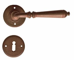 63-024 Ferramenta Lever on Rose LATCH Antique Black