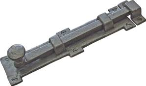 32-090 Straight Door Bolt 152mm with Mortice Plate
