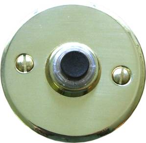X19-200 Round Bell Push 64mm Polished Brass