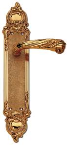 C12010 Style Italian Baroque Lever Handles On Full Backplate