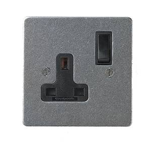 13 Amp Single Switched Socket 19-511 Patine