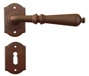 Ferramenta 63-028 Sprung Lever on Rose Latch Antique Black