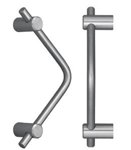 X45-240 Angled Cabinet Pull 96mm c/c Patine