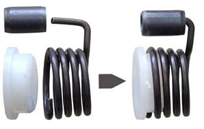 Coil Spring For Unsprung Levers Handed