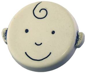 X40-080 Nursery Cupboard Knob Baby Face