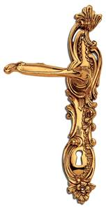 C09110 Style Louis XV Lever Handles On Full Backplate
