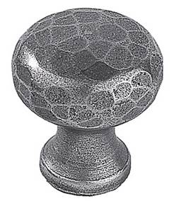 Historique Button Cabinet Knob 17-096 Hammered Patine