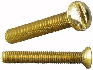 80-020 Machine Bolt Dome Head M5 x 35mm Brass