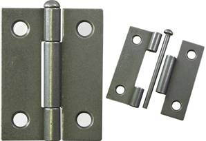 X16-000 Pressed Steel Hinge 50mm with Removable pin Patine
