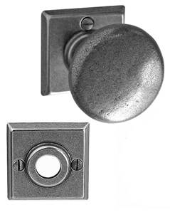 Esprit de Forge Turn Knob On Square Rose 02-771