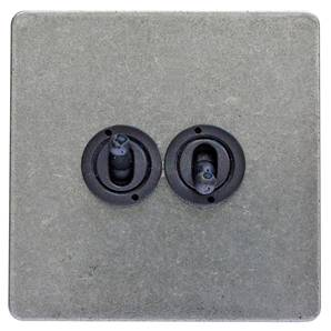 Toggle Switch 1 Gang 2 Way 19-530 Black