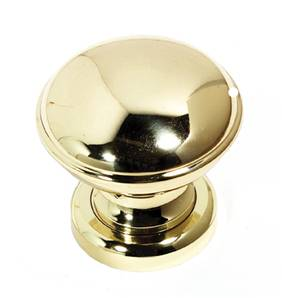 X43-013 Turn Knob Domed 70mm Polished Brass