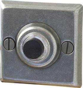Square Esprit de Forge Bell Push (2amp) 52mm 19-490